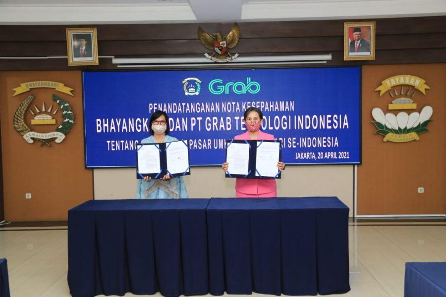 Peringati Hari Kartini, Bhayangkari dan Grab Tandatangani MoU Digitalisasi UMKM se-Indonesia