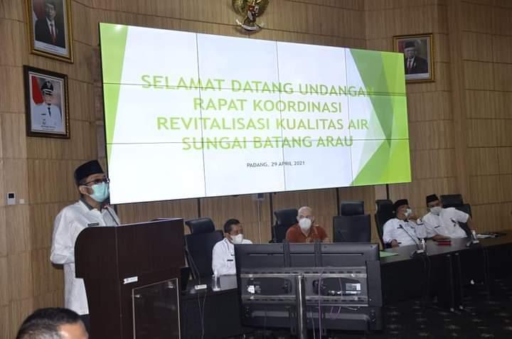 Revitalisasi Air Batang Arau, Pemko Padang Rakor Dengan Mr. Michell Rohmann dan Pemerhati Sungai