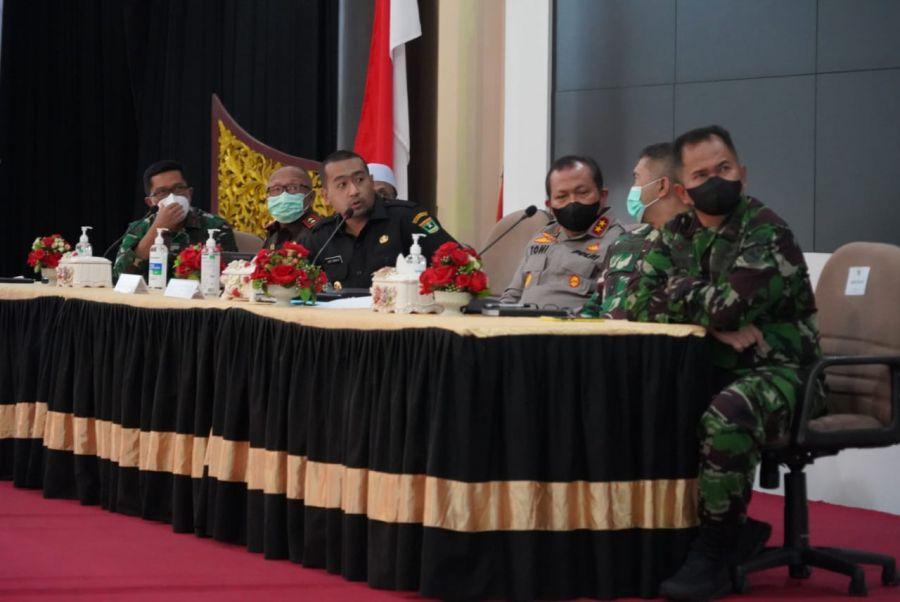 Wagub Sumbar Bersama Fokopimda Rapat Persiapan Menyambut Hari Raya Idul Fitri 1442 H Tahun 2021